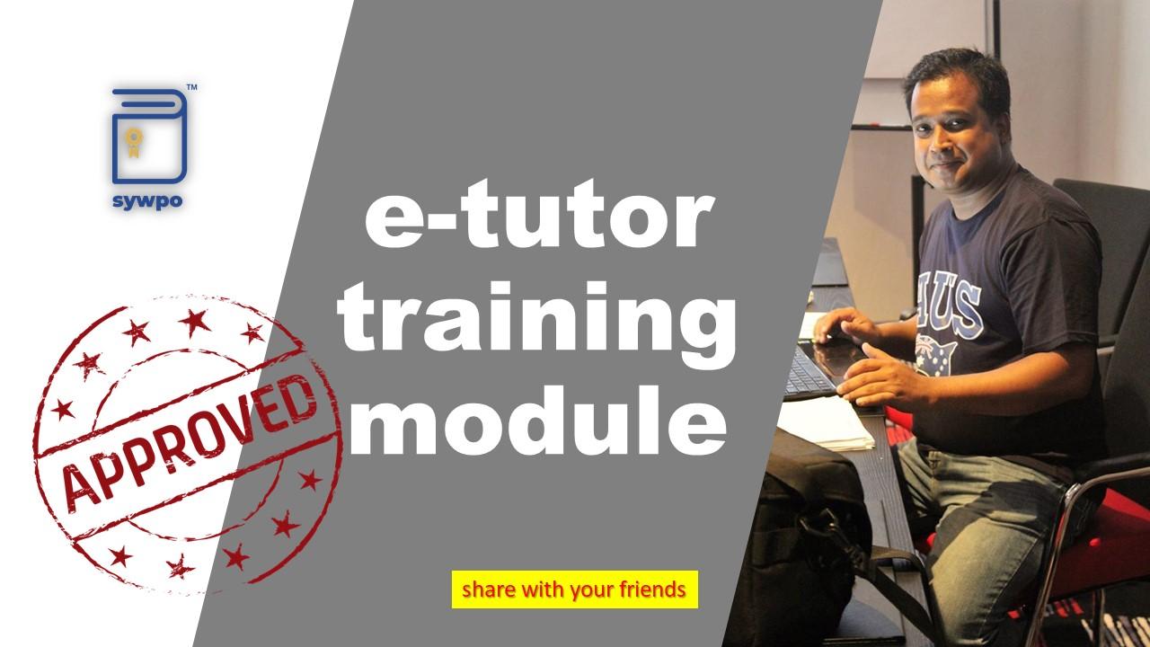 E-Tutor Training